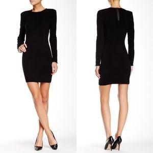J Brand | Noemie Leather Trimmed Merino Wool Dress